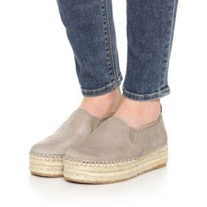 SAM EDELMA Carrin Suede Espadrille Platform Shoes